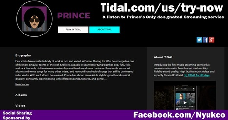 Support @TIDALHiFi the only place you can listen to all Prince's Music and honor what he stood for.Support @TIDALHiFi the only place you can listen to all Prince's Music and honor what he stood fo... | Fashion Technology Designers & Startups | Scoop.it