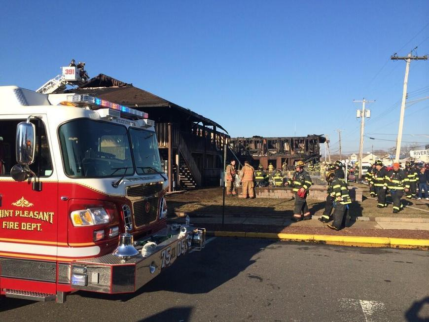 Photo: Many Hurricane Sandy victims were staying at motel in Point Pleasant, NJ, that burned down - @MattKozarABC7