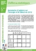 Baromètre d'opinion sur l'énergie et le climat en 2012 - Ministère du Développement durable | DOCJAPY : Développement durable | Scoop.it