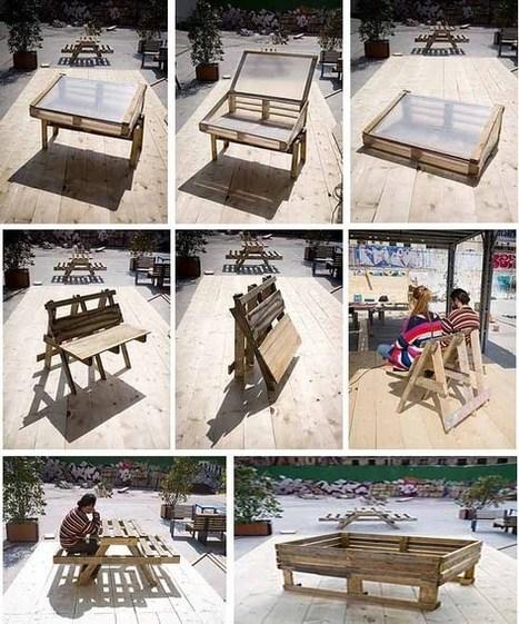 Planos para construir muebles reutilizando palés   EcoInventos   Positivisme ambiental   Scoop.it