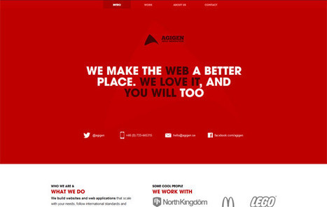 25 Red Websites for Inspiration | Web and graphic design | Scoop.it