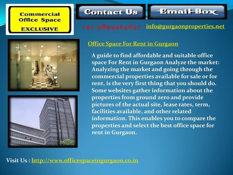 Office Space For Rent in Gurgaon | edocr | Warehouse in Gurgaon | 9899464647 | Scoop.it