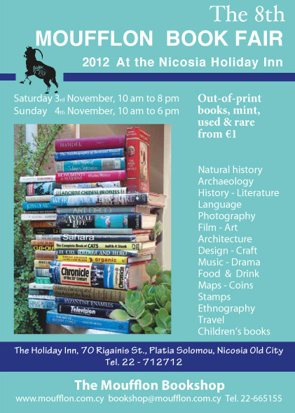8th ANNUAL MOUFFLON BOOK FAIR - PRICES START FROM 1 EURO   University of Nicosia Library   Scoop.it