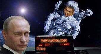 Barack Fighting Vlad on land, but paying him $424 million for space travel | Politics | Scoop.it