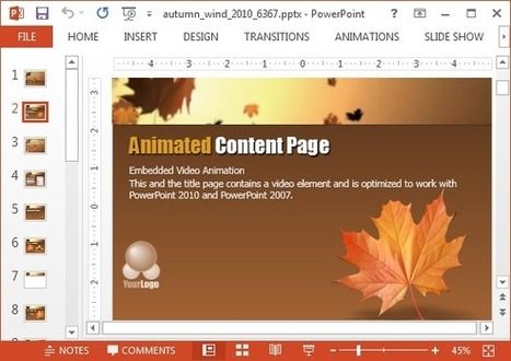 Animated Autumn Wind PowerPoint Template | PowerPoint presentations and PPT templates | Scoop.it