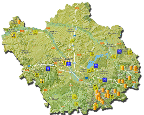 Carte interactive de l'Aube en Champagne | Aube en Champagne | Scoop.it