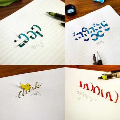 New 3D Calligraphy Exercises by Tolga Girgin   Amazing art!   Scoop.it