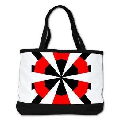 Ruth Gerd Red/Black/White Shoulder Bag | CafePress Designs Via Flamin Cat Designs And Friends | Scoop.it
