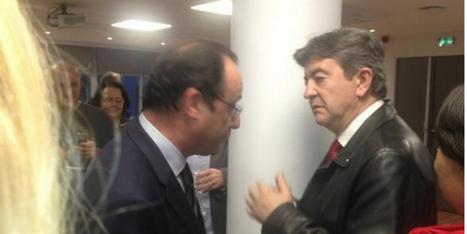 François Hollande s'invite au pot de départ d'une journaliste de #AFP et tombe sur Jean-Luc Mélenchon   DIGITAL CONSUMER   Scoop.it