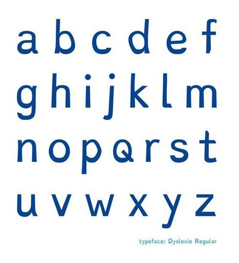 A Typeface Designed to Help Dyslexics Read | William Floyd Teacher Center | Scoop.it