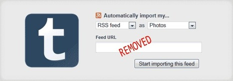 Tumblr Blogs Can No Longer Import RSS Feeds | eLearning, Medical Education and Other Snippets | Scoop.it