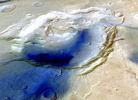 Mars Crater May Actually Be Ancient Supervolcano | Planets, Stars, rockets and Space | Scoop.it