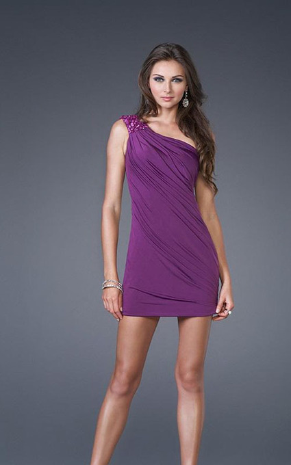 Simply Mini Length One Shoulder Purple Prom Dresses [One Shoulder Purple Prom Dresses] - $150.00 : 2014 Hot Sale Dresses   Party Dresses Discount for Prom   fashion   Scoop.it