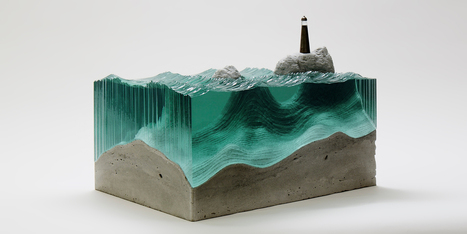 Artist Layers Sheets Of Glass To Create Ocean Waves | creativity & technology | Scoop.it