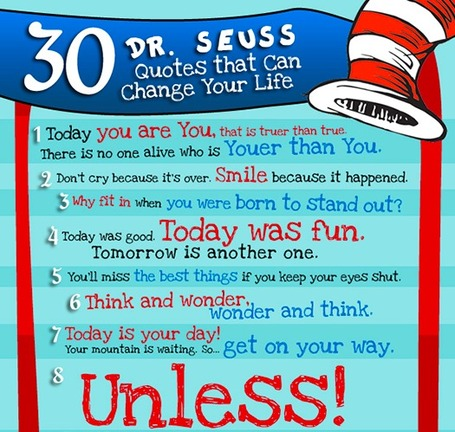 30 Dr. Seuss Quotes That Can Change Your Life [infographic] | Educators 2.0 | Scoop.it
