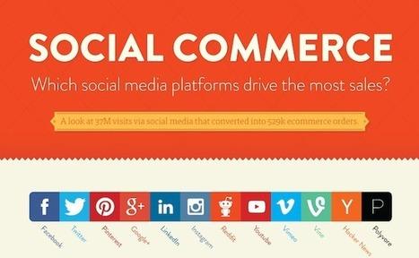 Social e-commerce : les réseaux sociaux qui génèrent le plus (et le moins) de ventes | Digital | Scoop.it