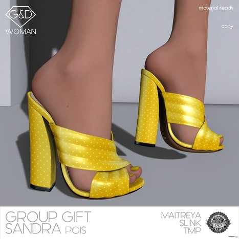 Sabot Sandra Pois Group Gift by G&D The Italian Style | Teleport Hub - Second Life Freebies | Second Life Freebies | Scoop.it