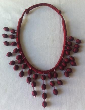 fair trade Cambodia.Leftover Silk Bead Crown Necklace, ethically handmade by disabled home based women workers in Takeo province. | Natural Dyes Cotton Scarfs | Scoop.it