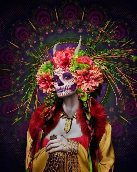 Las Muertas-Beautiful #Photo Series by Tim Tadder. #art #masks #facepaint #flowers   Luby Art   Scoop.it