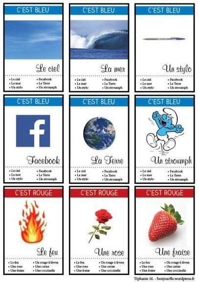 7 familles - couleurs | Free Resources For Teachers of  French | Scoop.it