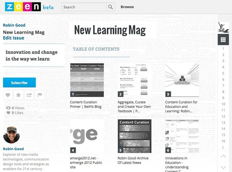 Curate Your Own Web Magazine by Picking the Best from the Web with Zeen | De Informatieprofessional | Scoop.it