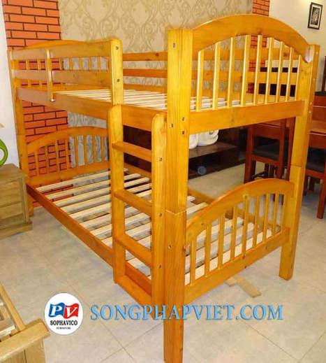 Giường tầng | Giường gỗ | Giường xuất khẩu màu gỗ | Đồ Gỗ Song Pháp Việt | Hello coopit | Scoop.it