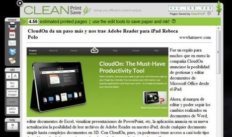 CleanSave – optimizando contenidos web para su impresión o guardado en Dropbox o Google Docs   Translation & L10N   Scoop.it