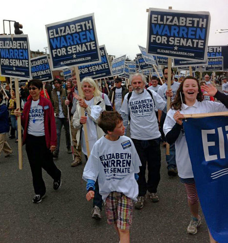 "photo: ""When I say Senator, you say WARREN"" #Eastie Parade, Columbus Day Weekend 