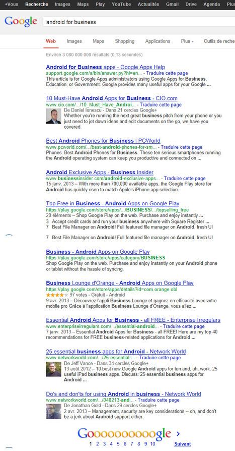 Référencement sur Google | Android for Business | Scoop.it