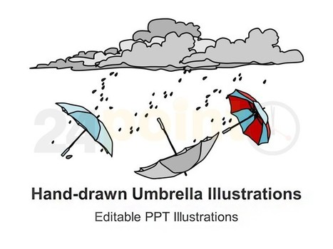 Umbrella Illustrations - Hand-drawn | PowerPoint - Maps, Templates, Diagrams, Illustrations and more! | Scoop.it