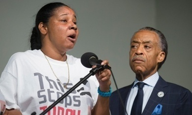 Widow of Eric Garner speaks at protest rally over NYPD 'chokehold' death | SocialAction2015 | Scoop.it