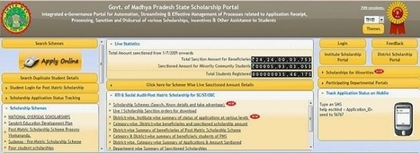 MP Scholarship Portal Online Application Status @ www.scholarshipportal.mp.nic.in - Let's More Education - Education Enlightens You | Let's More Education | Scoop.it