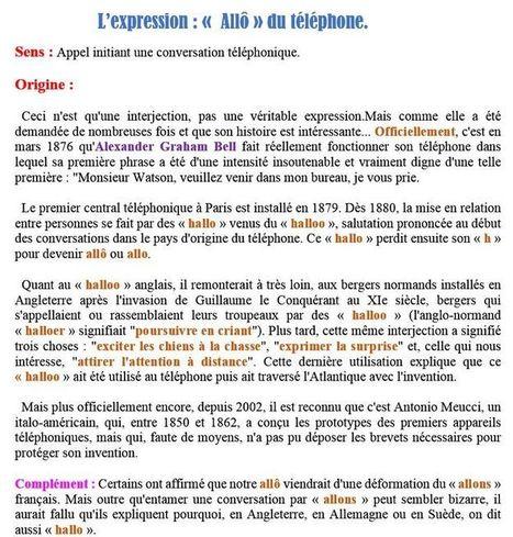 L'expression Allô du téléphone | Remue-méninges FLE | Scoop.it