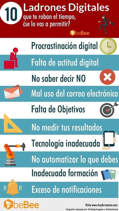 10 Ladrones Digitales que te roban el Tiempo, ¿se lo vas a permitir? #infografia #infographic | El rincón de mferna | Scoop.it
