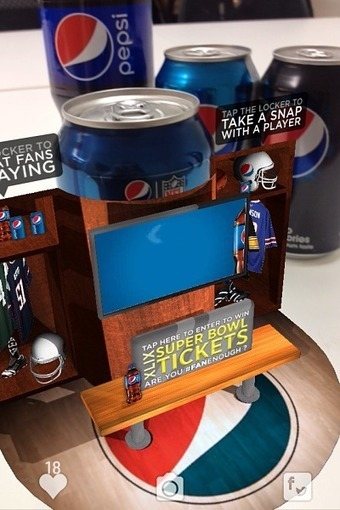Pepsi Bets Big on Augmented Reality to Fuel 2015 Super Bowl Mobile Strategy | International CSD Market Insights | Scoop.it