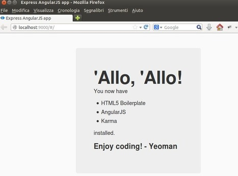 Yeoman, Express and AngularJS | Development on Various Platforms | Scoop.it