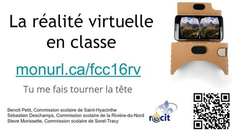La réalité virtuelle #RV en classe, réalité possible? | Réalité augmentée, technologies, usages pédagogiques | Scoop.it