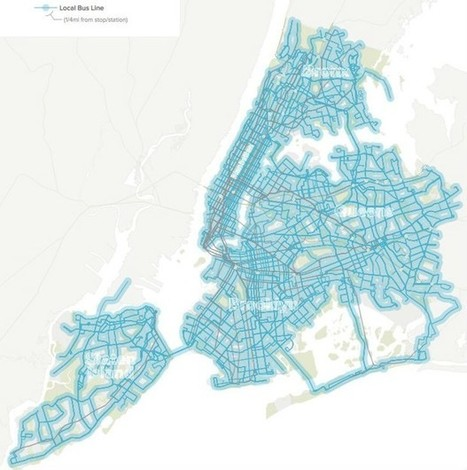 Mapping Where the New York City Subway Doesn't Go | Social Environments | Scoop.it