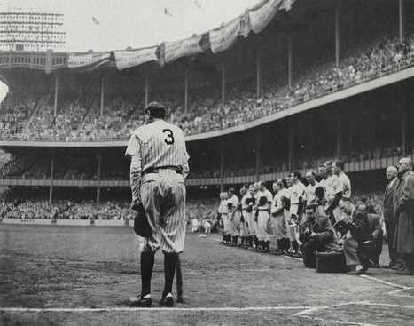 Babe Ruth's Farewell Speech - 1920s Sports | TheGreatGatsby | Scoop.it