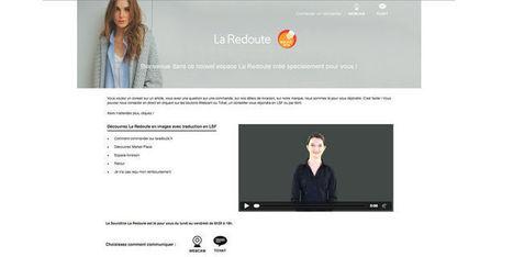 La Redoute propose un service dédié aux sourds et malentendants   Langue des signes, numérique et accessibilité   Scoop.it