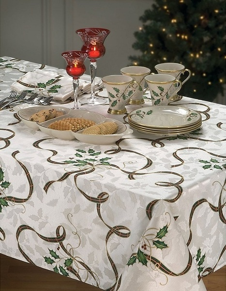 Lenox Holiday Nouveau Tablecloth - Lenox Holiday Nouveau collection | AbsoluteChristmas | Scoop.it