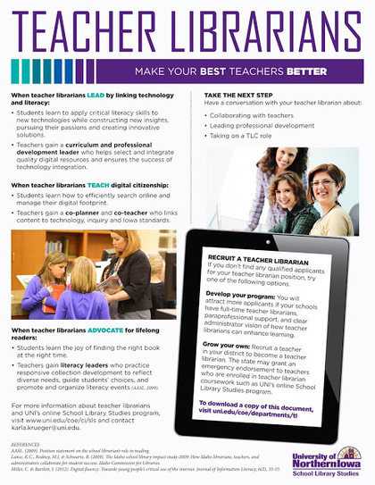 Iowa Association of School Librarians: New UNI advocacy publications for Teacher Librarians | School Library Learning Commons | Scoop.it