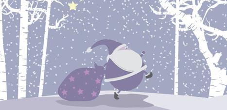 Ilustración Navideña con Santa   Vectores Gratis   Recursos   Scoop.it