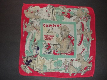Smokey The Bear Child's Hanky Vintage Handkerchief | Antiques & Vintage Collectibles | Scoop.it