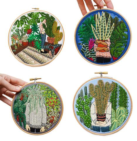 Des plantes d'intérieurs en broderies par Sarah K. Benning | Inspiration et créativité | Scoop.it