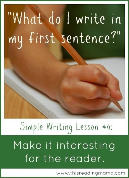 Make it Interesting for the Reader: A Simple Writing Strategy {Week 4} | Literacy | Scoop.it