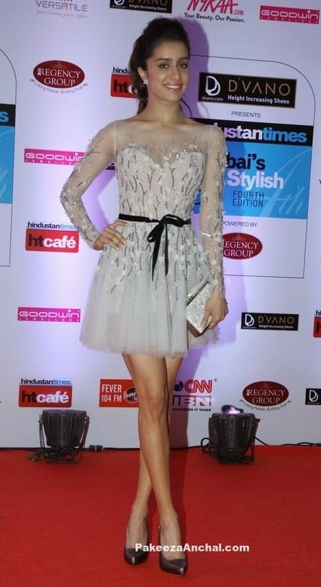 Shraddha Kapoor in Paolo Sebastian White Flirty Short Skirt at HT Mumbais Most Stylish 2015 | Indian Fashion Updates | Scoop.it