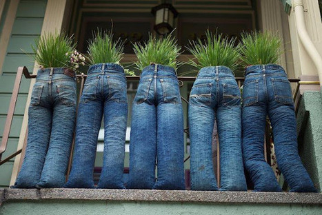 Denim planter inspiration | architecture, planning, education, trending | Scoop.it