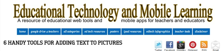 Gespot! 5 handige tools om teksten toe te voegen aan afbeeldingen | Educatief Internet - Gespot op 't Web | Scoop.it