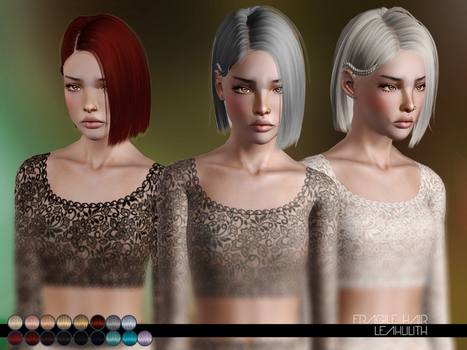 Fragile Hair for TS3 by LeahLillith by The Sims Resource | Sims 3 Downloads | Scoop.it